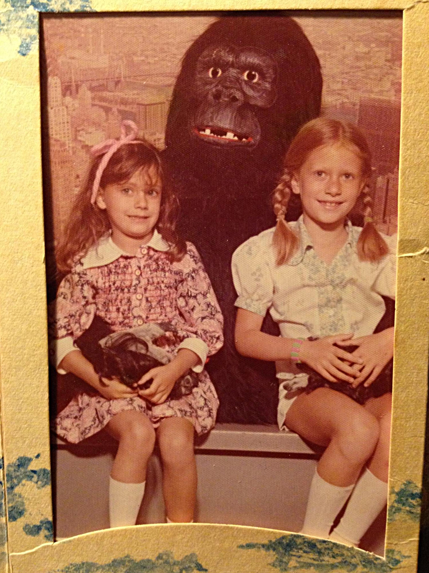 My sister (left) and I with the one and only King Kong at the Empire State Building.
