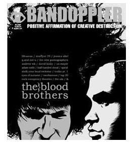 Bandoppler magazine cover, issue 1 - feature article: The Blood Brothers