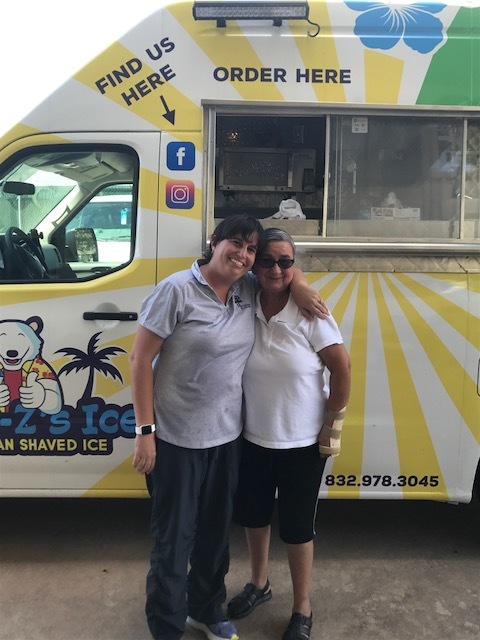 One of the many blessings of owning your own mobile shaved ice vehicle is to be able to take it around and share with others. Here we donated shaved ice treats to the Ability Beyond Disability School in Friendswood -