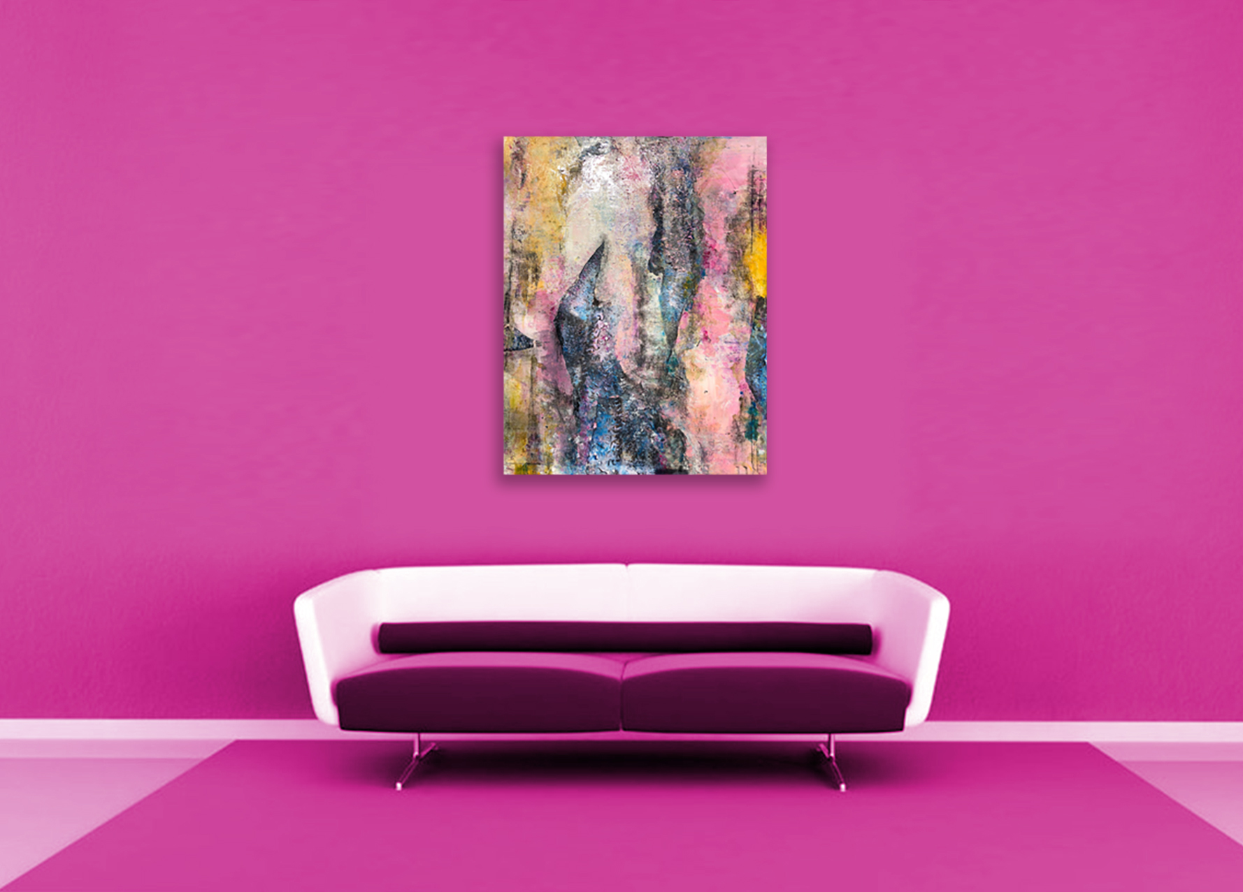 A piece applied in style. Pink on pink.