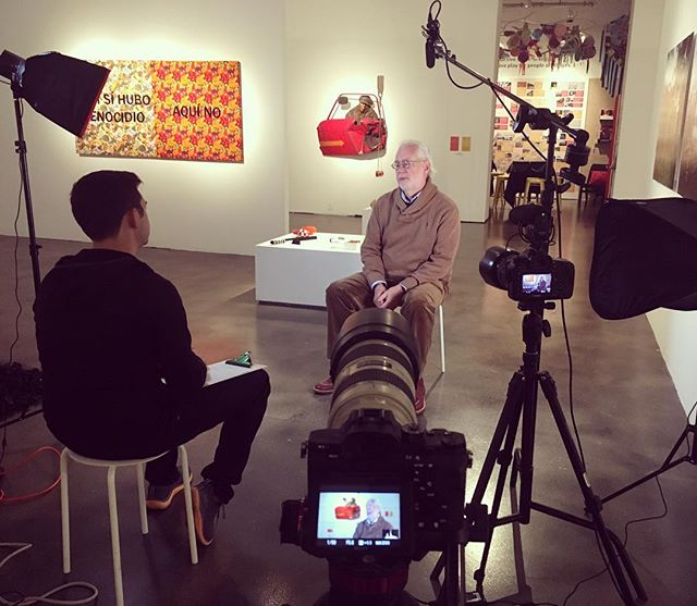 Shooting a few interviews with MCA staff in their main gallery space for an upcoming project about Take Part Make Art, one of the MCA's biggest endeavors to bring art to the Santa Barbara community. 🎨