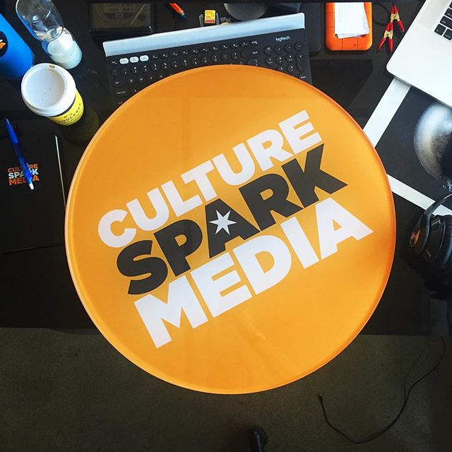 Got the newest decoration for the office in from the sign shop today. Thanks for the work @studio86