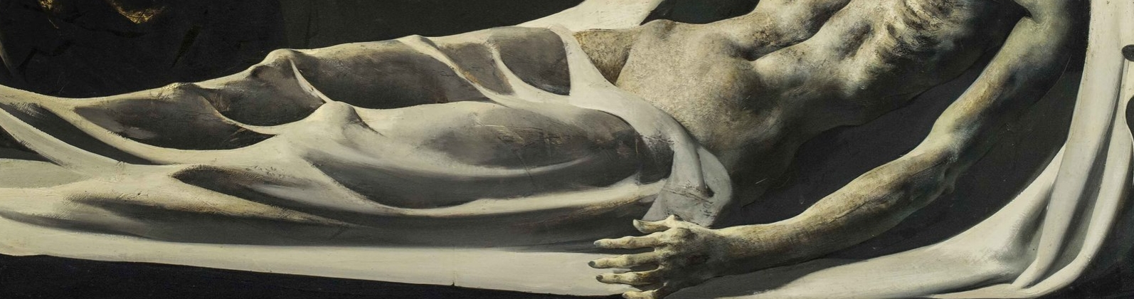 Marcel Delmotte, Shrouded figure, detail image