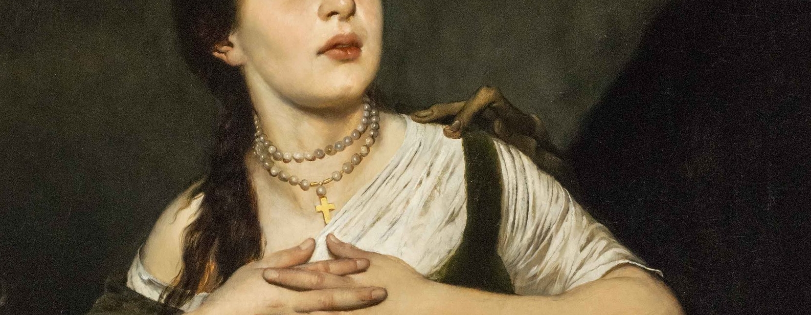 August Diefenbacher, Death and the Maiden, detail image