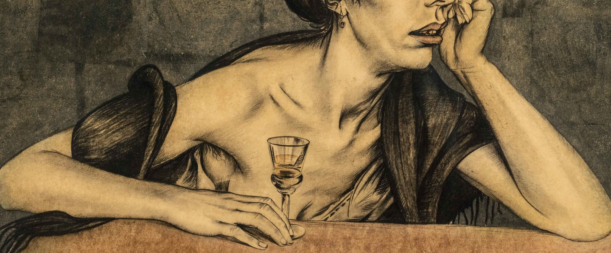 Walter Sauer, Woman from the Borinage, detail image