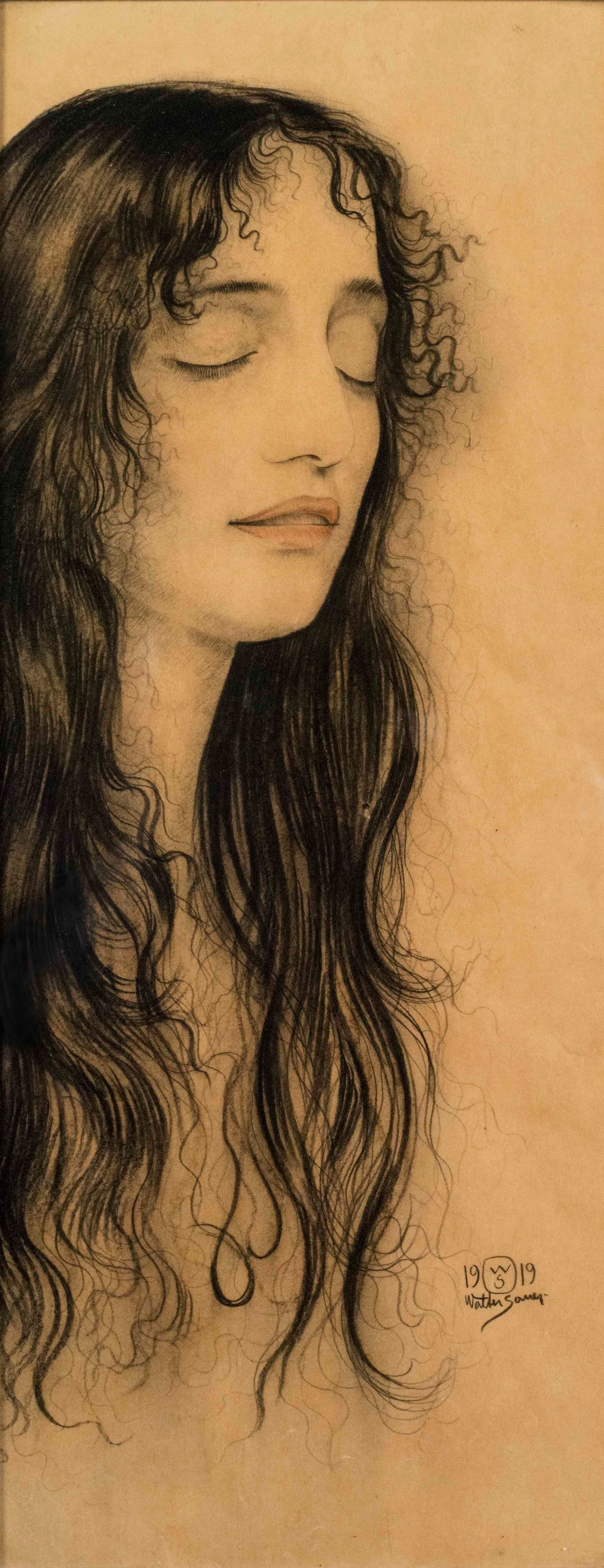 Walter Sauer, Portrait of a woman with long hair