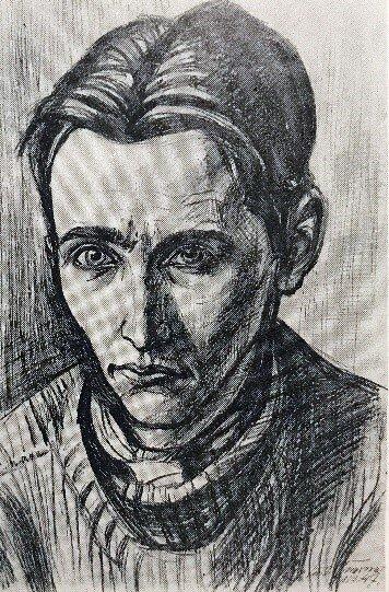 Figure 1.  Curt Querner, Prisoner of War Werner Jeffré, 1947, graphite on paper, 47 x 32 cm, C 215.