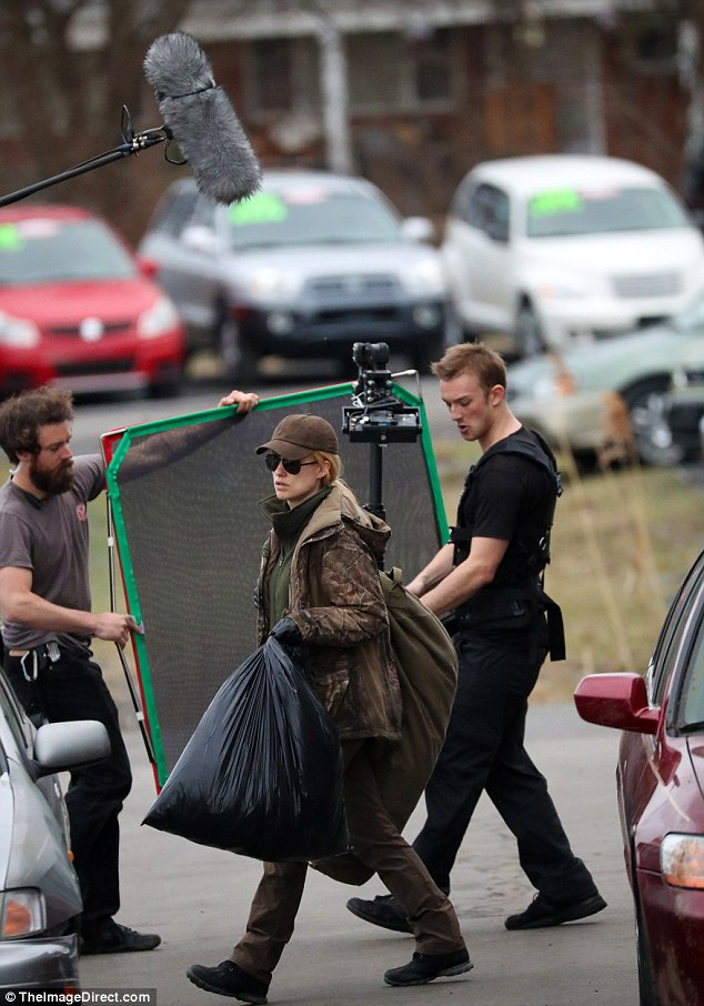 "Olivia Wilde on the set of ""A Vigilante"""