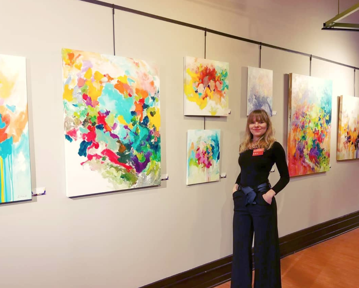 Opening reception of my solo exhibition, Arts Council of Greater Lansing, Lansing, MI, USA.
