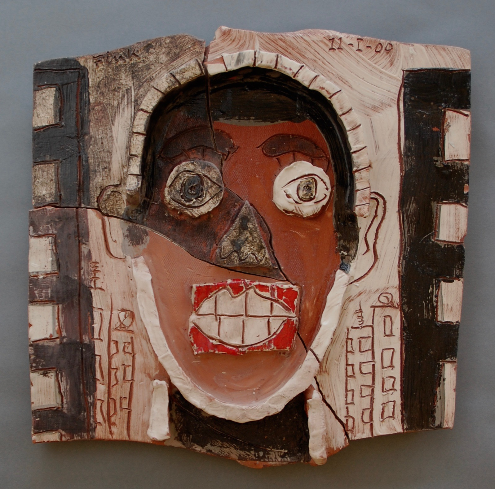 Fragmented head of a man, 1999