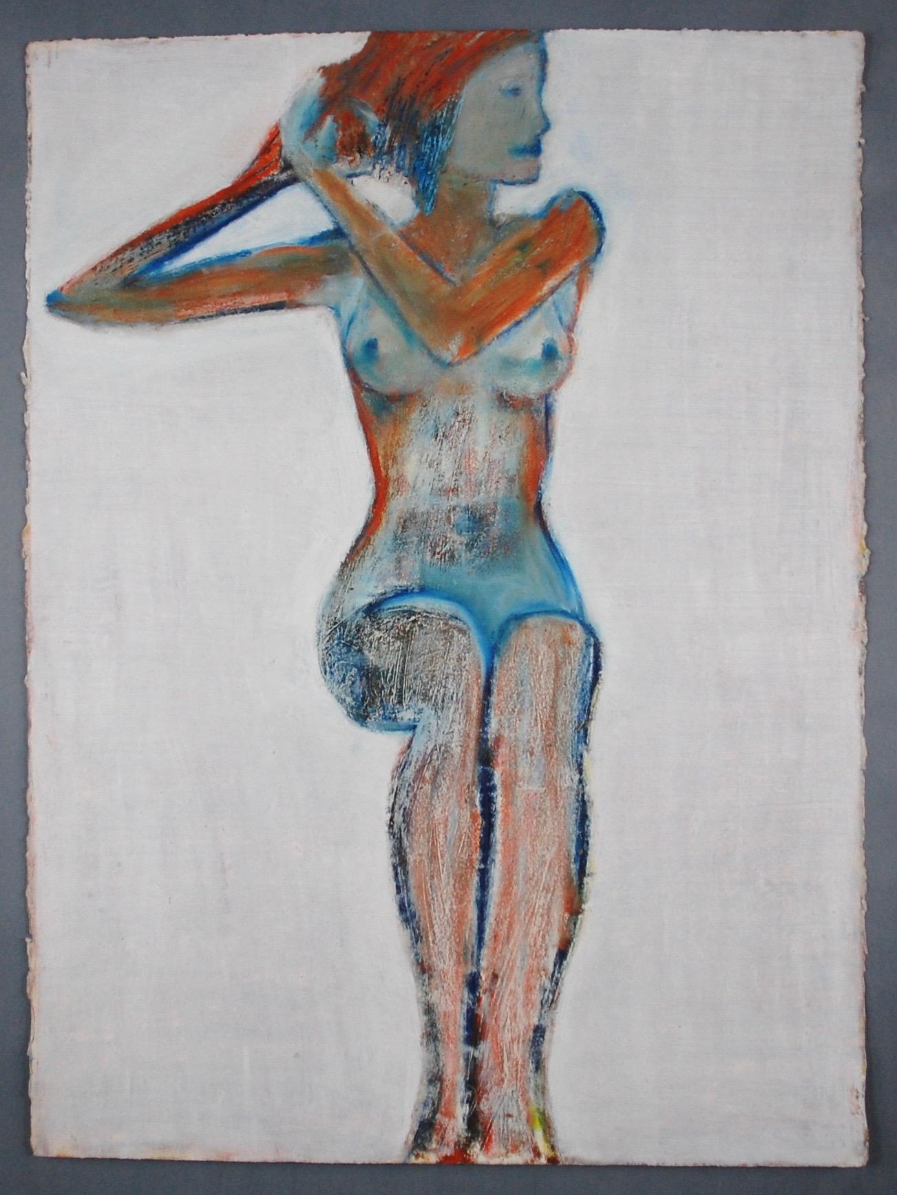 Seated female nude #2 after Schiele