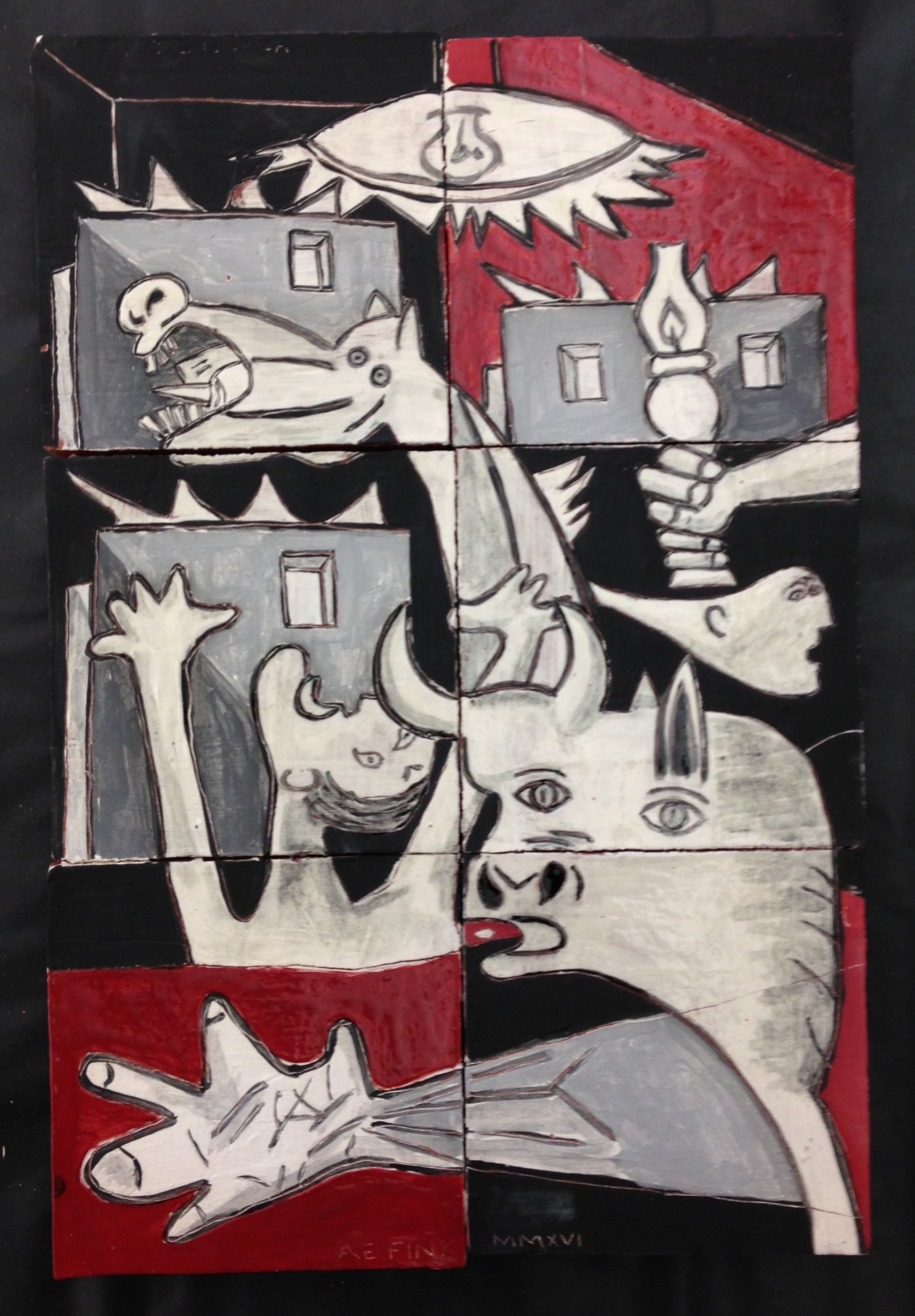 Guernica sketch, 2017