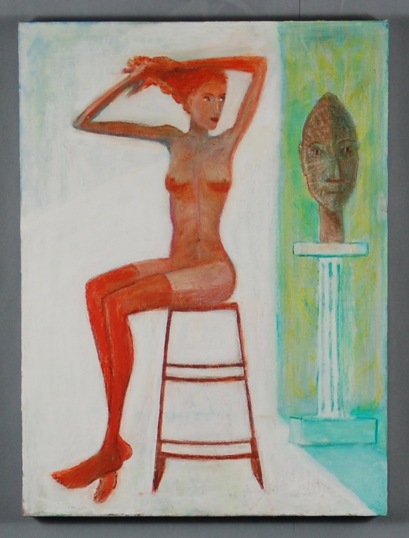 Seated female nude #4 after Schiele