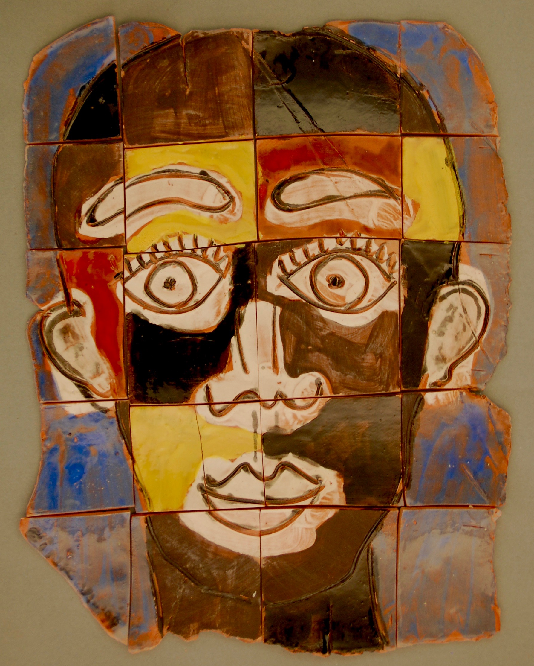Head of a man terra cotta puzzle, 1999