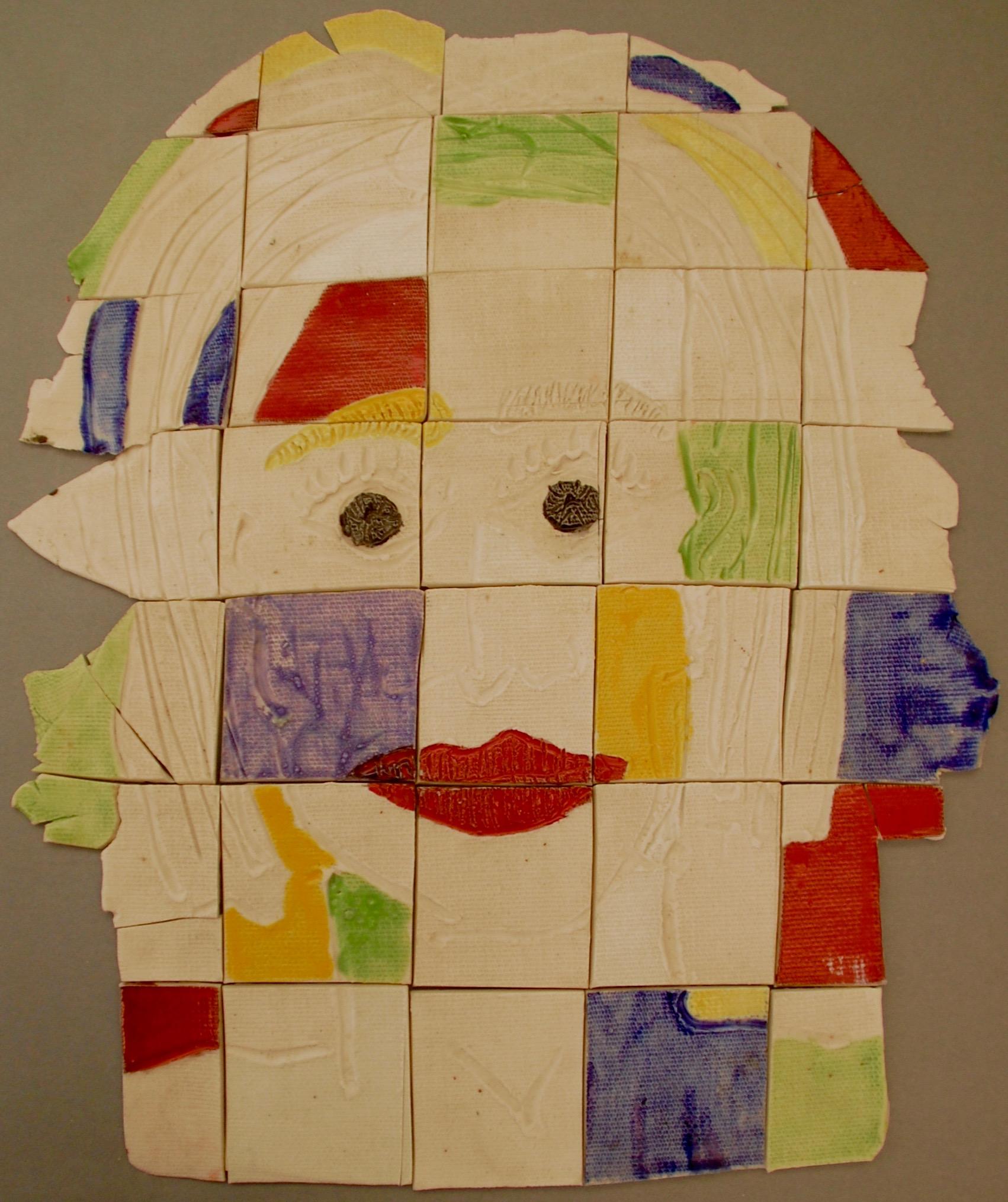 Head of a woman porcelain puzzle, 1999