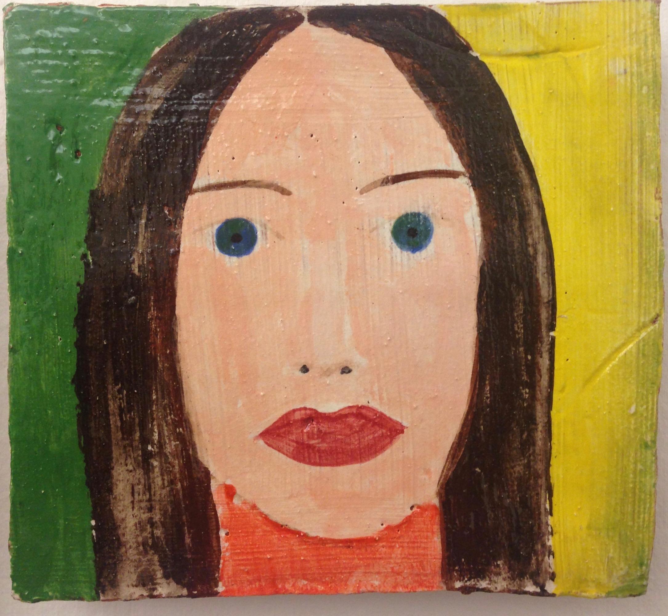 Portrait of Ariadna after Alex Katz, 2015