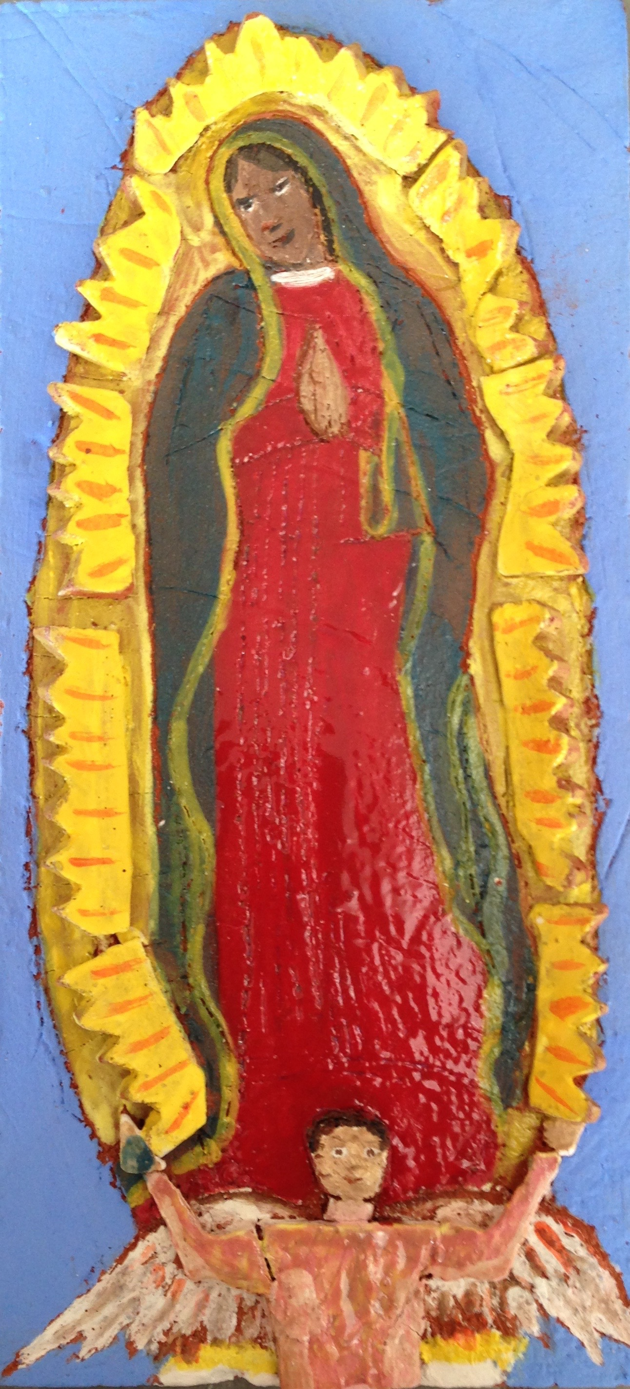 Small tile: Virgin of Guadalupe, 2016