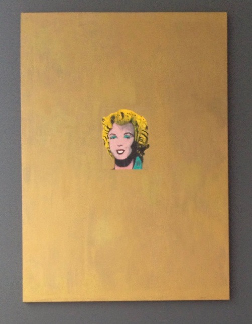 Painted golden Marilyn 2015
