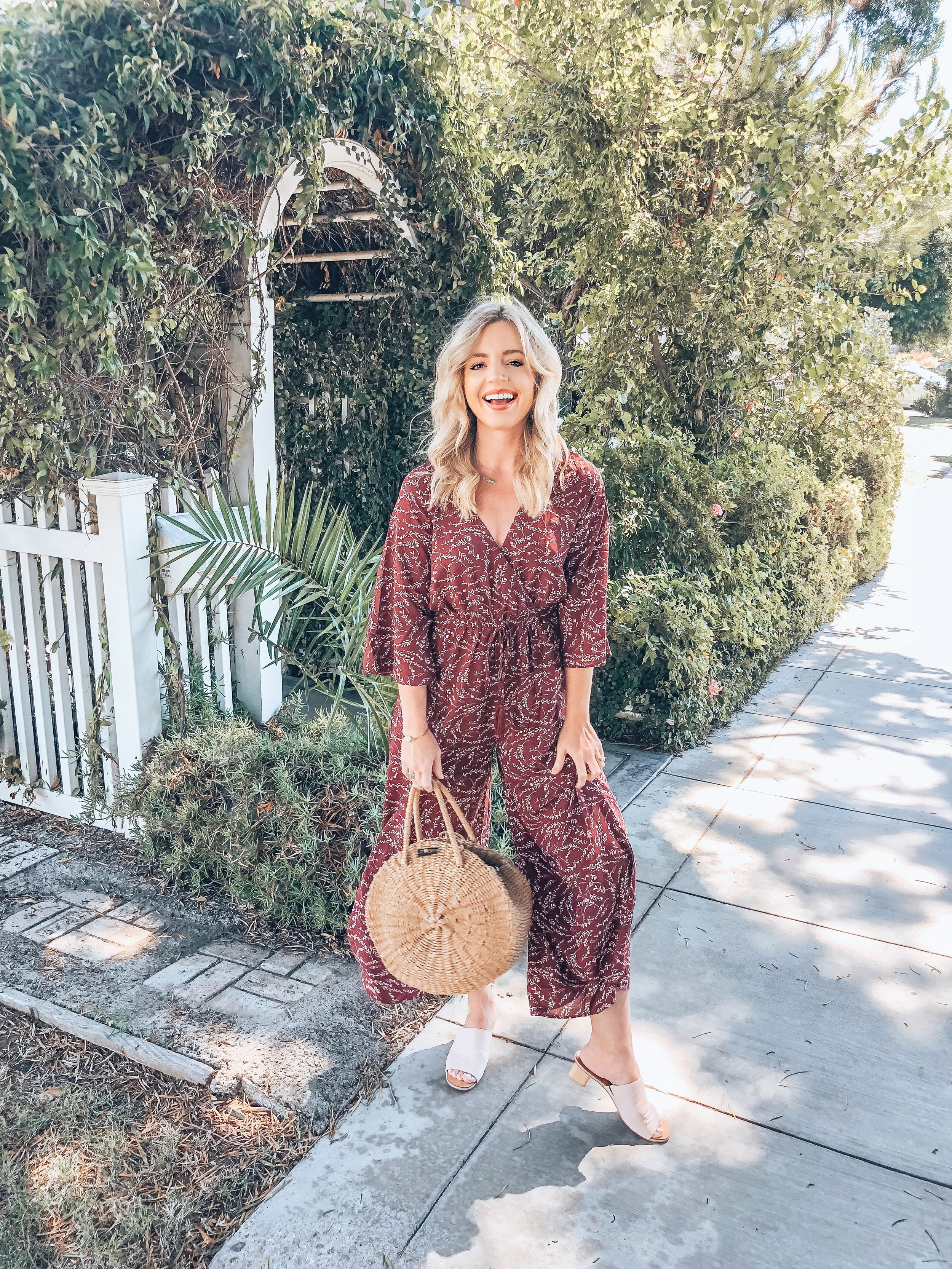 The Drew Jumpsuit: - This jumpsuit has been one of my go-to outfits recently. I have dressed it up, dressed it down, and have worn it to so many different types of occasions. It is still in stock in all sizes (here)! I am wearing a size small.