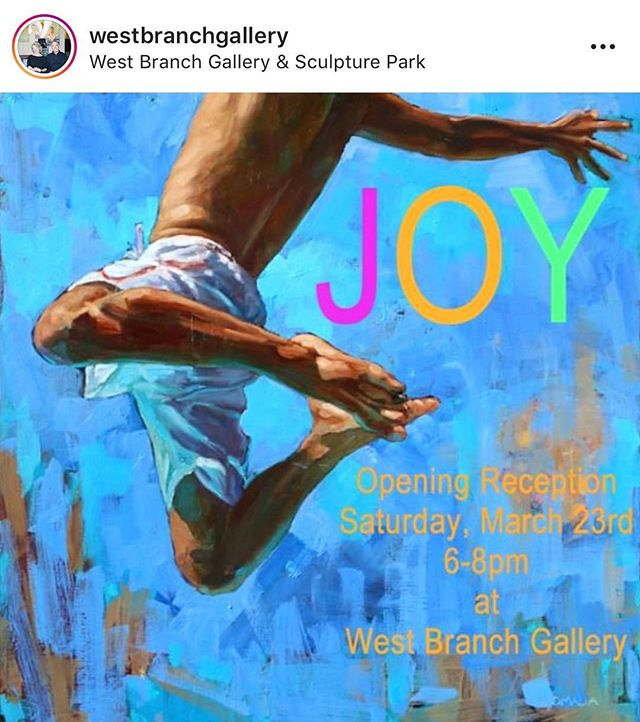 I'm at the West Branch Gallery opening tonight! Please come if you are in the area. 6:30-8:30 Repost from West Branch.