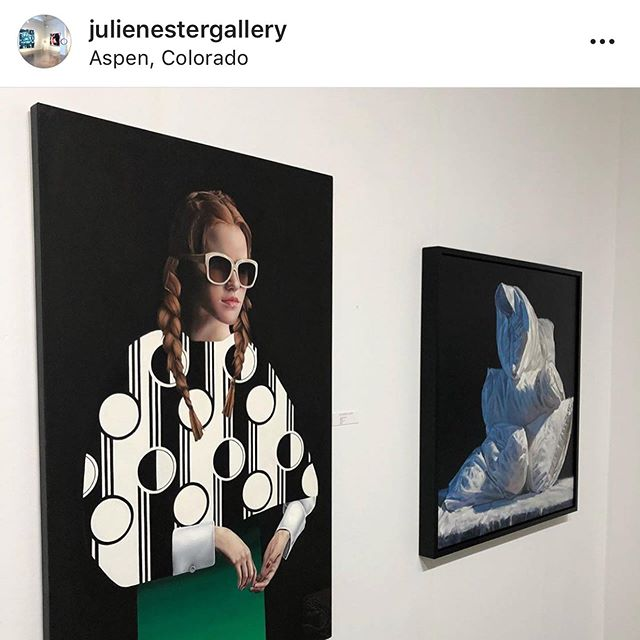 Reposted from @julienestergallery in Colorado for Art Aspen! #julienestergallery #carolomalia #pillows