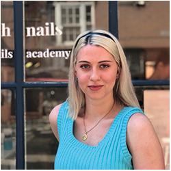 Audrey nail artist, nail art specialist & team supervisor