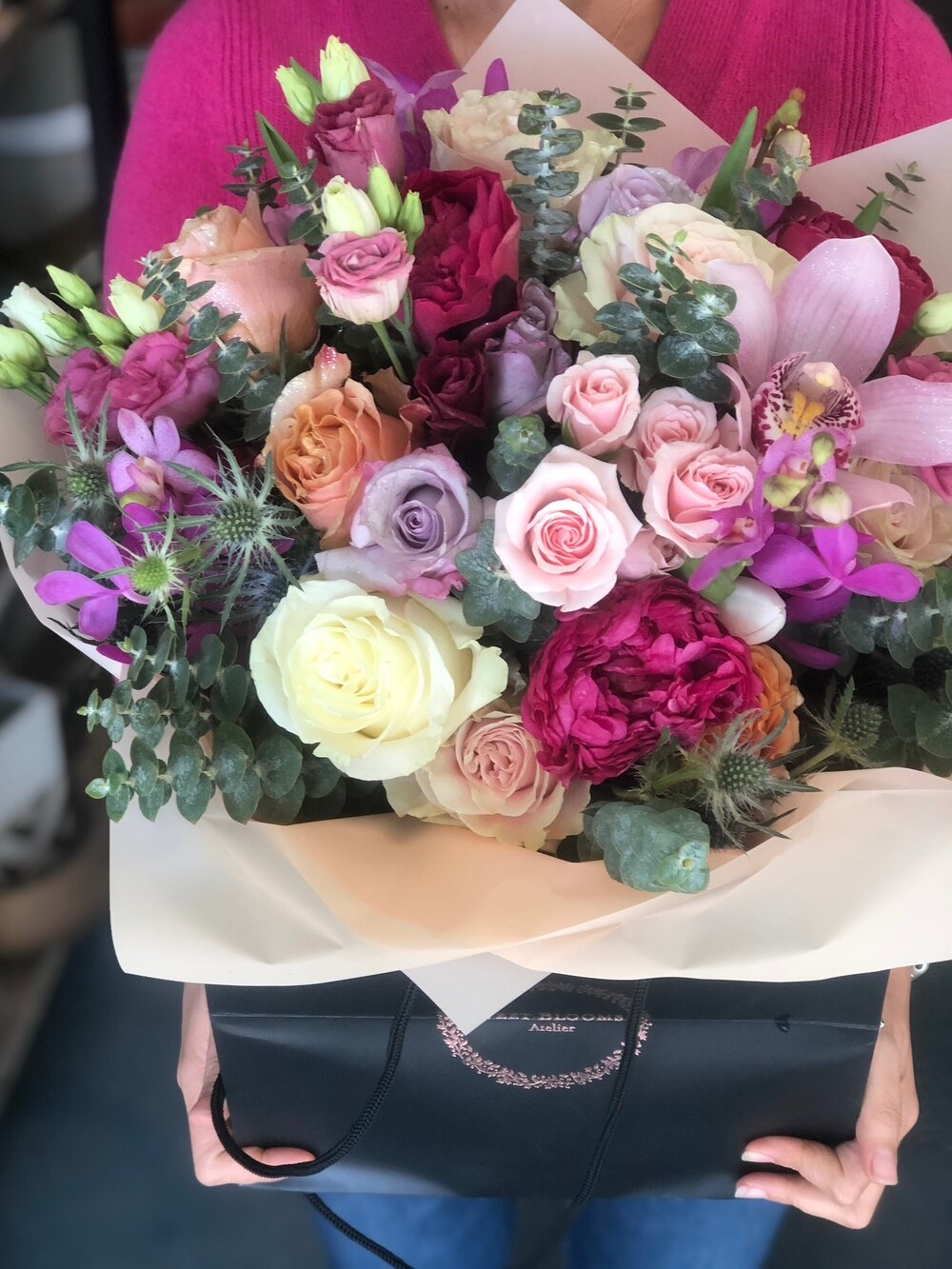 Abby Hand Tied Bouquet No Vase Sweet Blooms Atelier