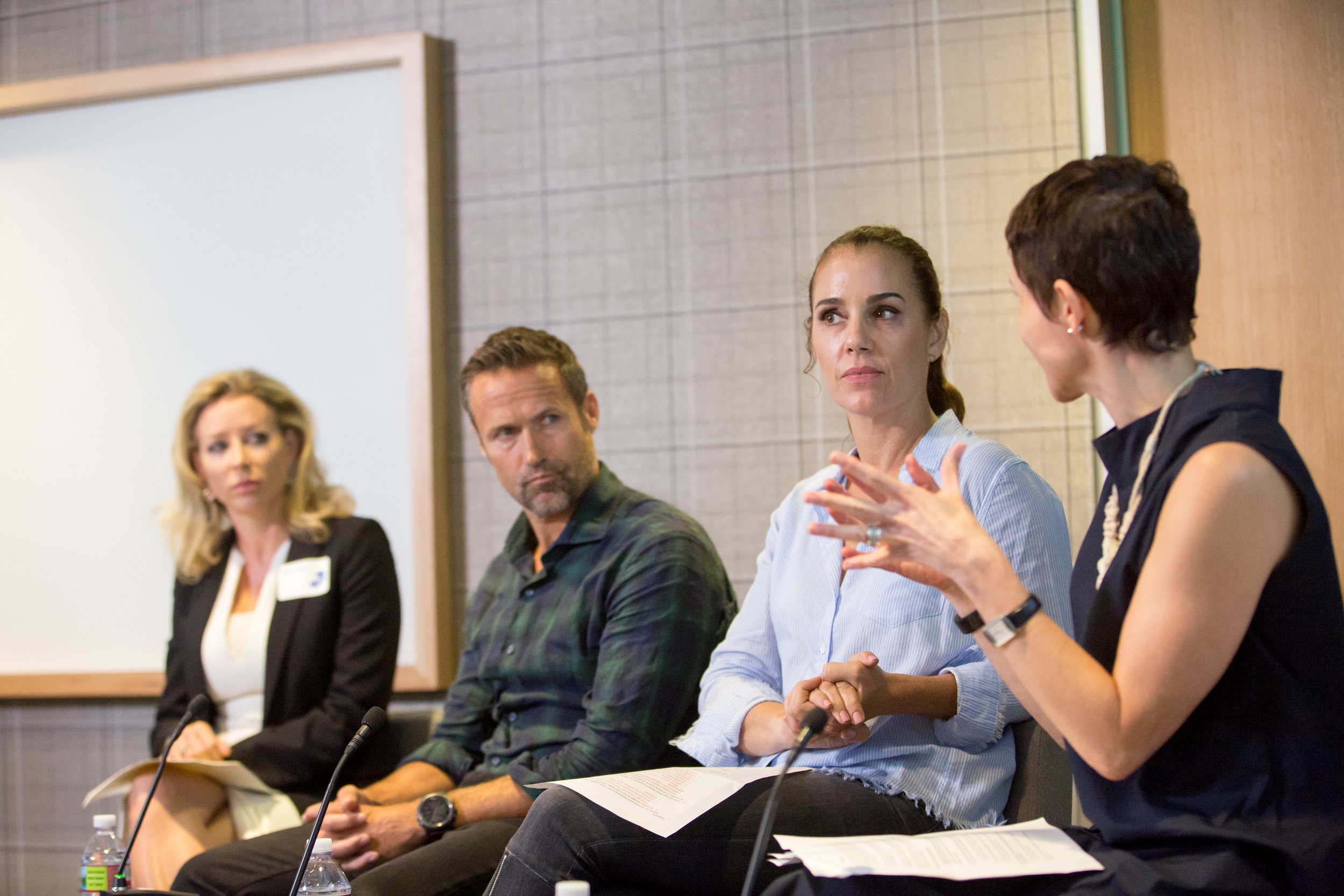 From left to right: Melissa Taunton (NEA), Andy Price (Index Ventures), Gia Scinto (Y Combinator), and Hilary Gosher (Insight Venture Partners).