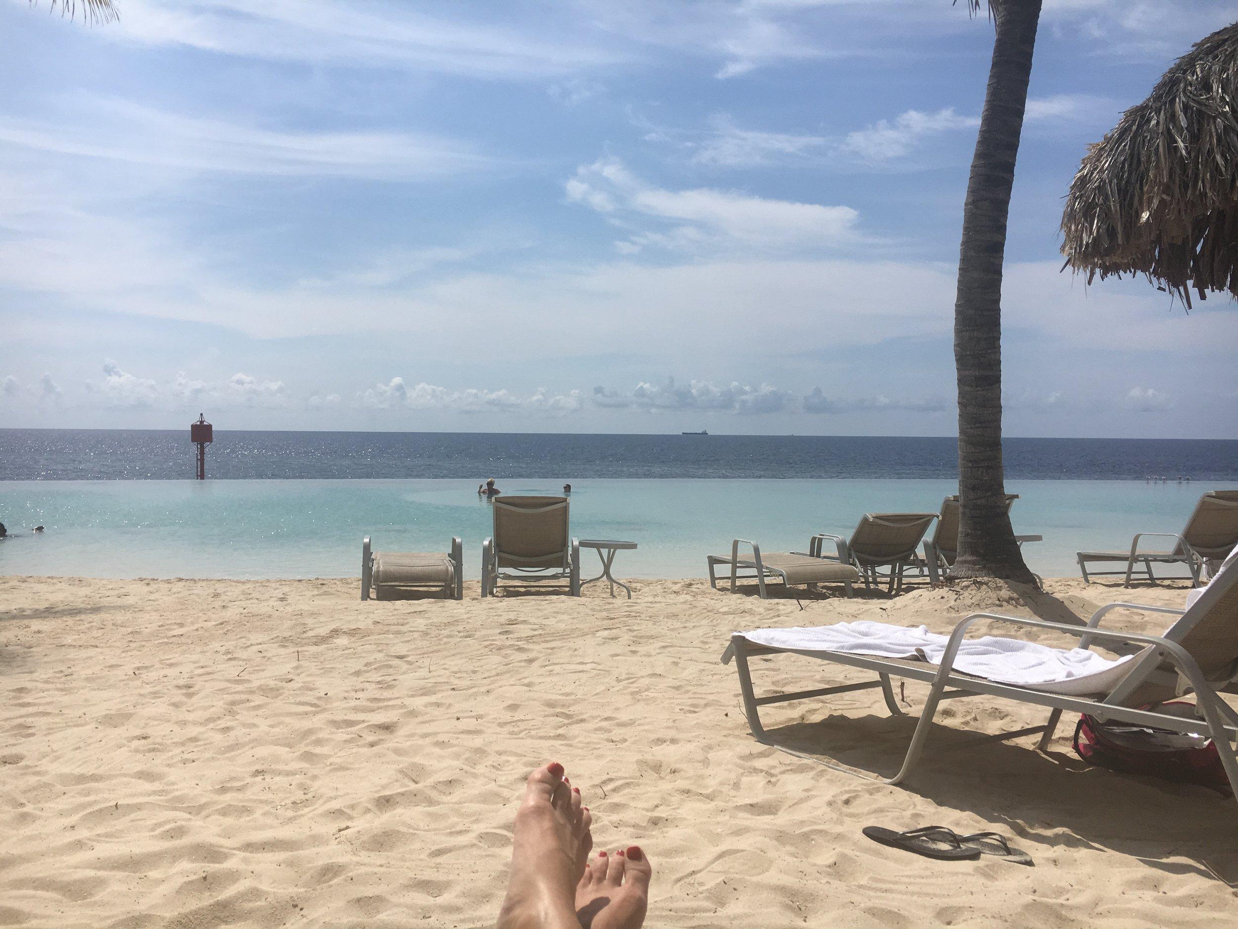 Renaissance infinity pool and beach