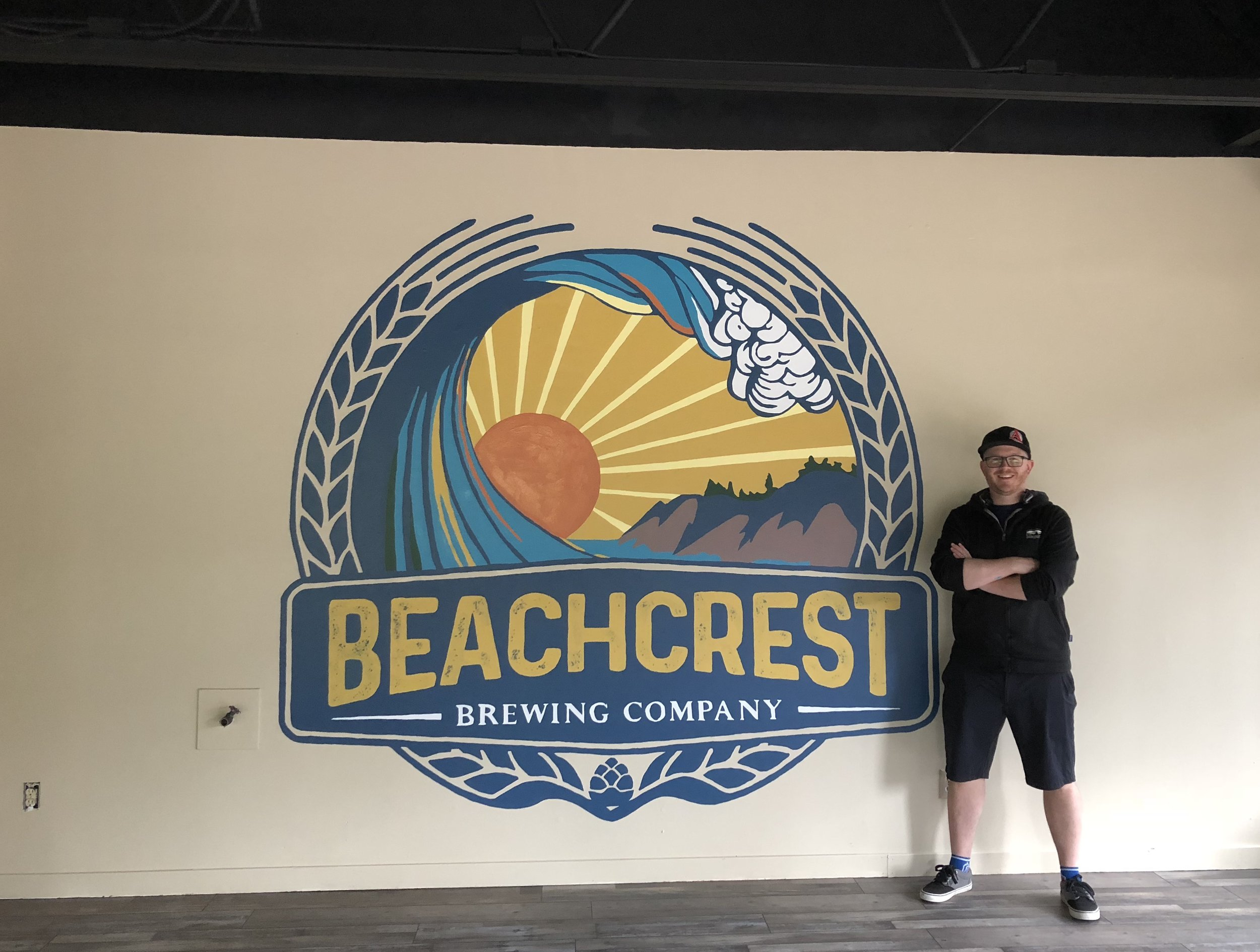 Hand Painted Beachcrest Brewing Logo