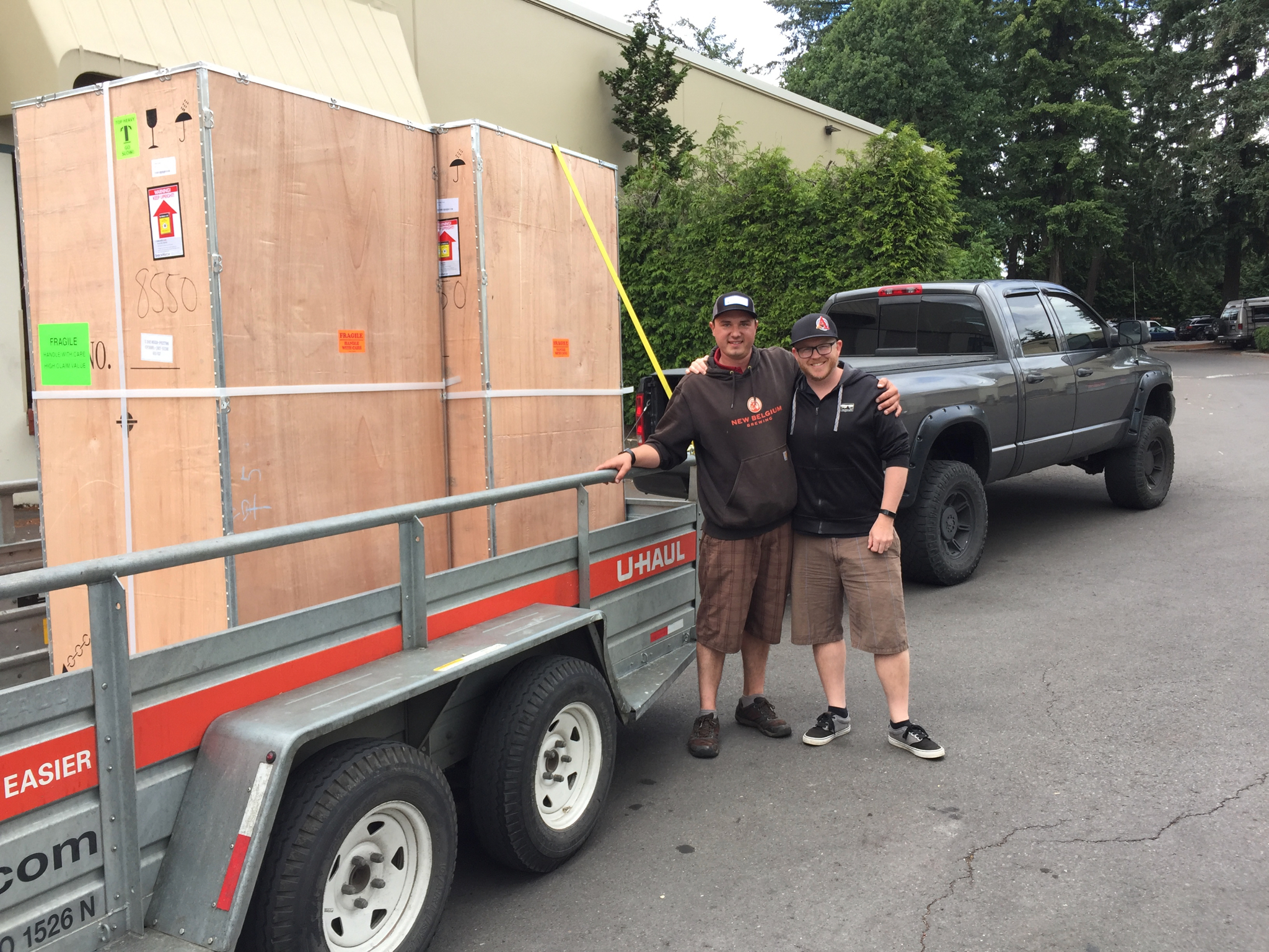 Picking up the new fermenters