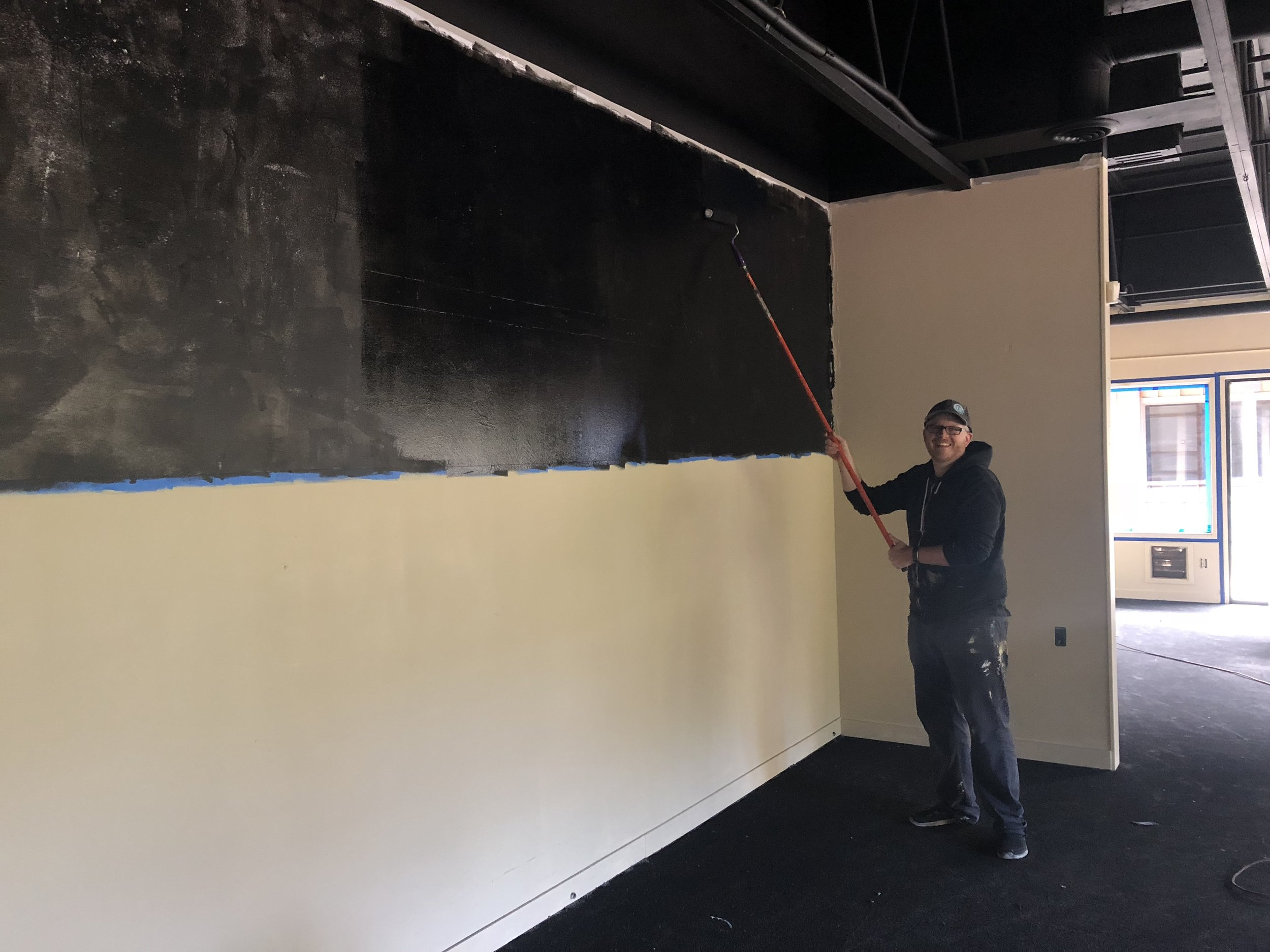 Painting the Beachcrest Taproom