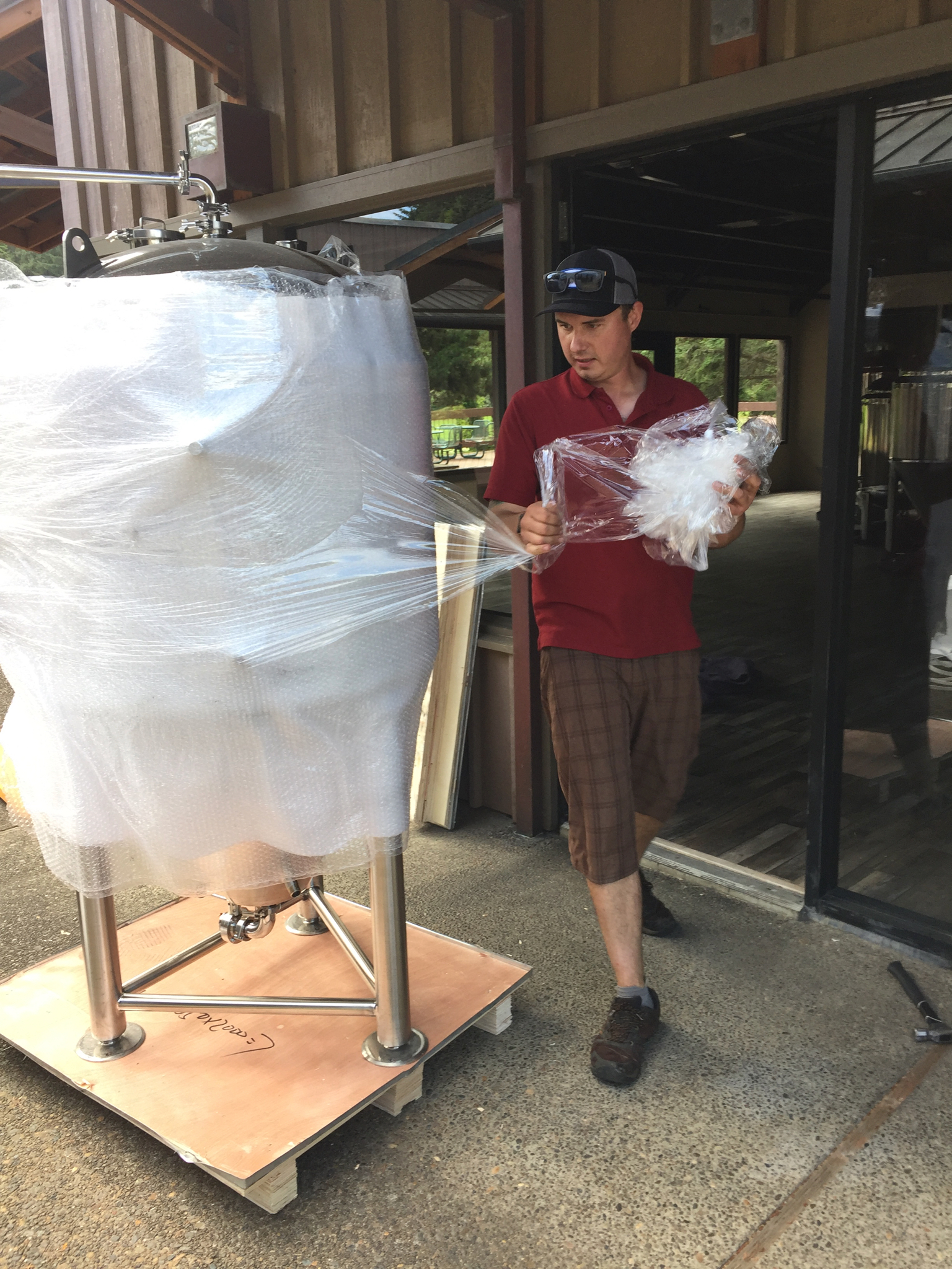 Unwrapping the new fermenter