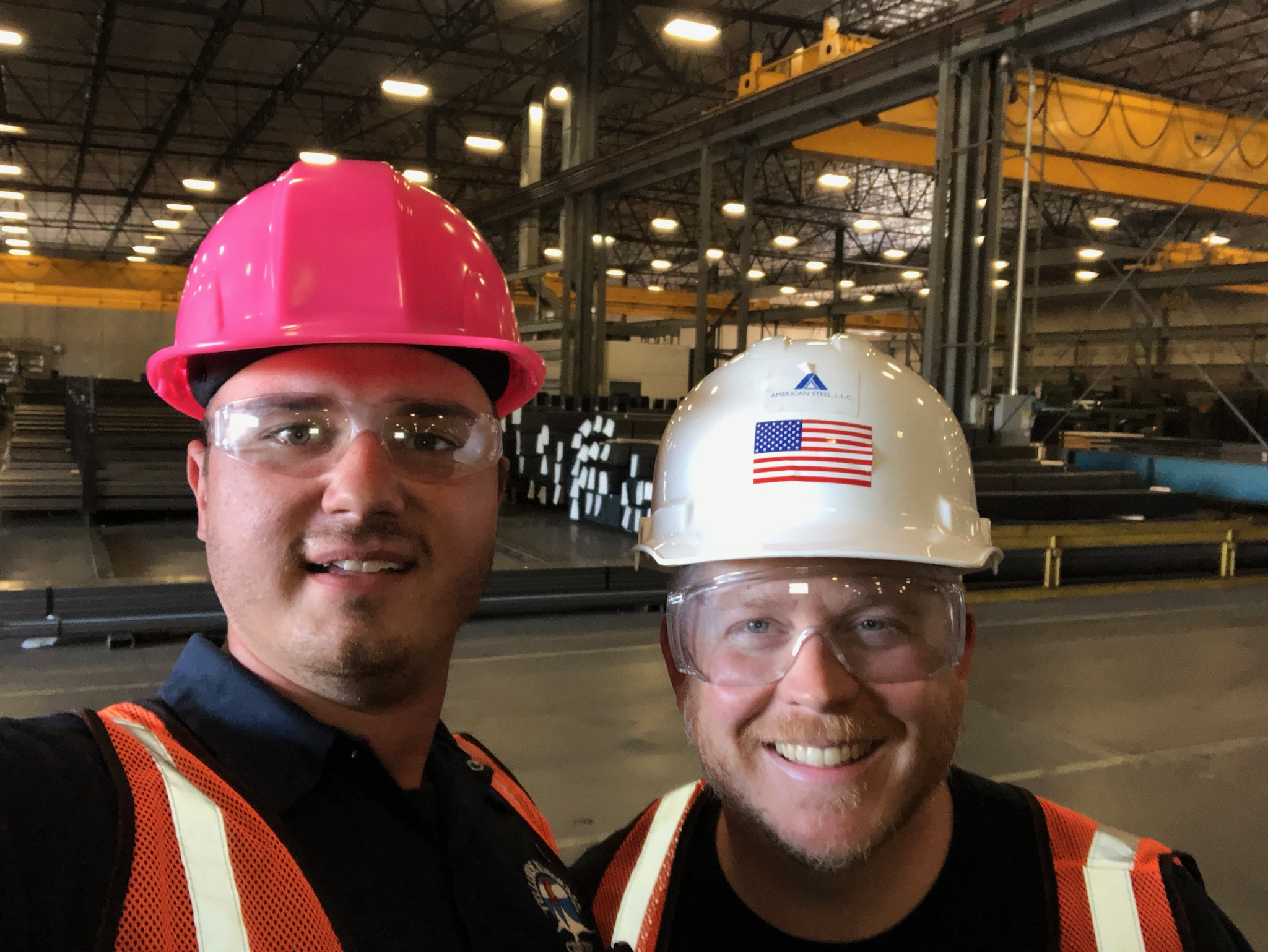 Visiting the steel company