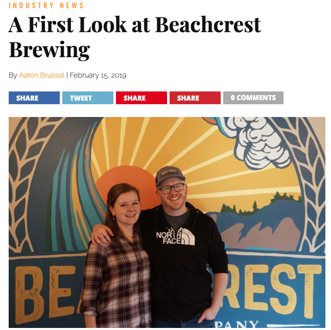 A First Look at Beachcrest Brewing - Nestled in the Salishan resort near Gleneden Beach, 20 minutes north of Newport, with a view over Hole 10 to the Siletz Bay, Beachcrest Brewing held its grand opening this New Year's Eve. The 3.5-barrel brewery and taproom is the brainchild of former music teachers Amy and Matt White and is poised to serve the local community and passers-through with good beer.Matt and Amy moved out from Denver, Colorado, where they moonlighted at breweries and homebrewed in addition to performing and teaching music. They took on two other partners to help start the business who still live in Colorado and help run the financial end of the operation…Read the full article here