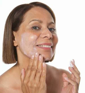 Moisturize your face to avoid frown lines.