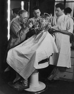 The twins, Perc and Ern, working with Max Factor, 1931.