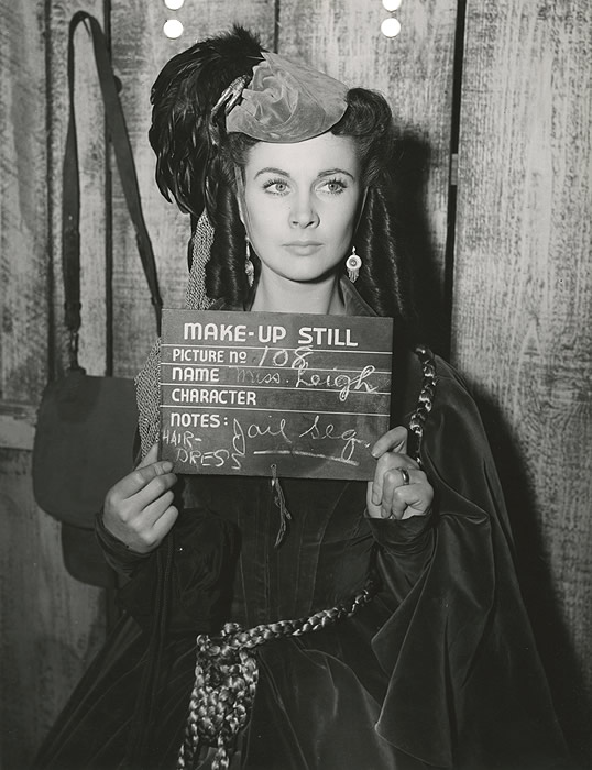 Vivien Leigh,   Gone with the Wind  ,  Make-up Test, 1937.