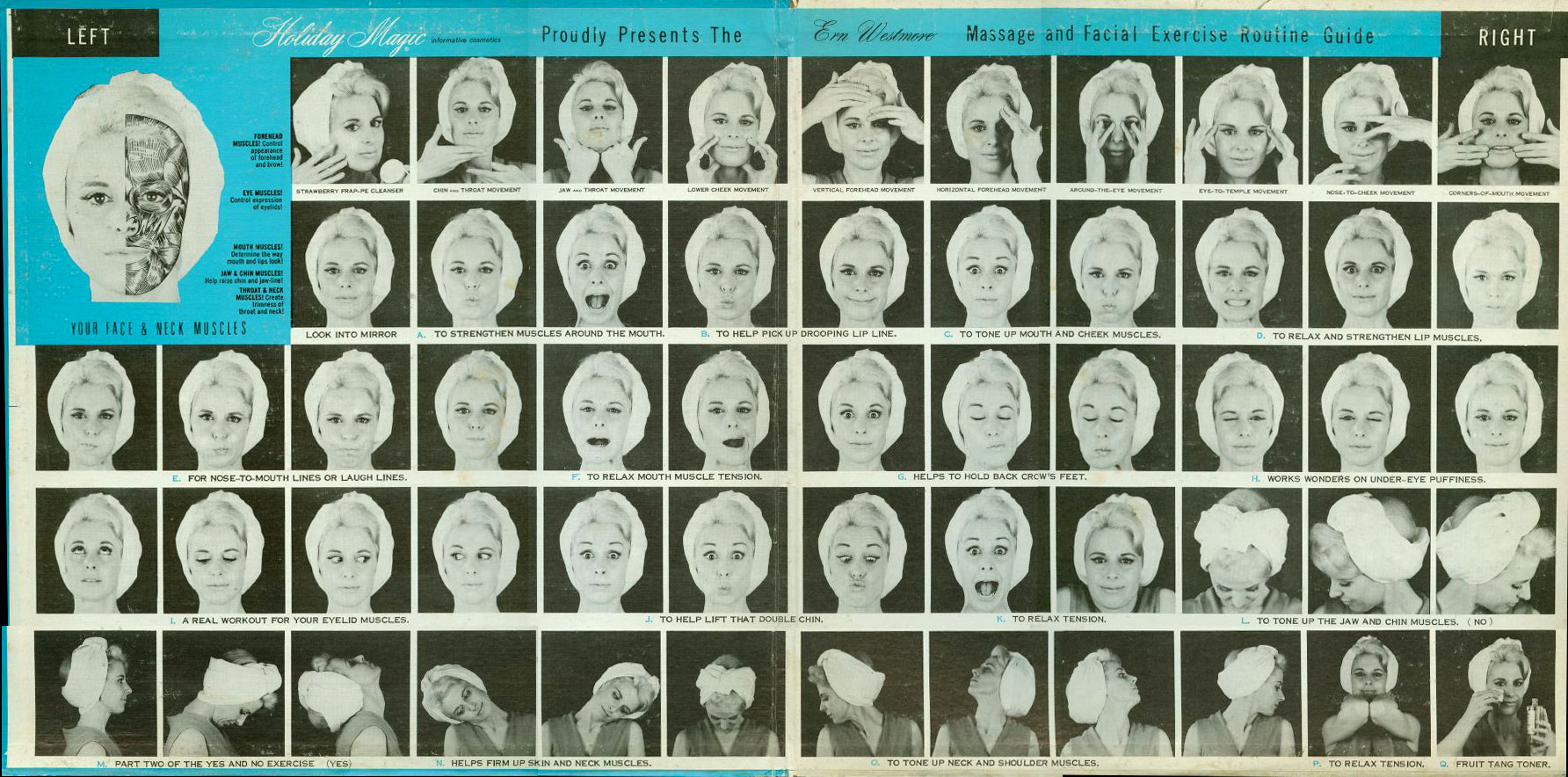 Holiday Magic Cosmetics presents: Ern Westmore's Facial Exercises.