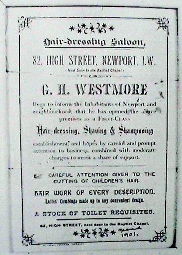 George's shop bill, Newport, Isle of Wight, 1901.
