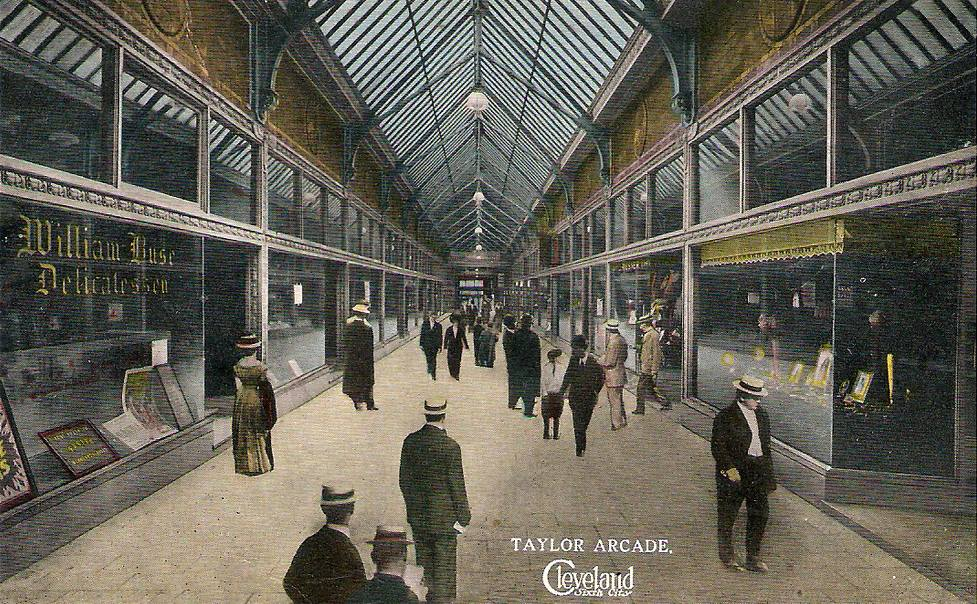 Taylor Arcade, Cleveland, Ohio. George worked here as a wig and dye maker when he first immigrated with his family into the United States.