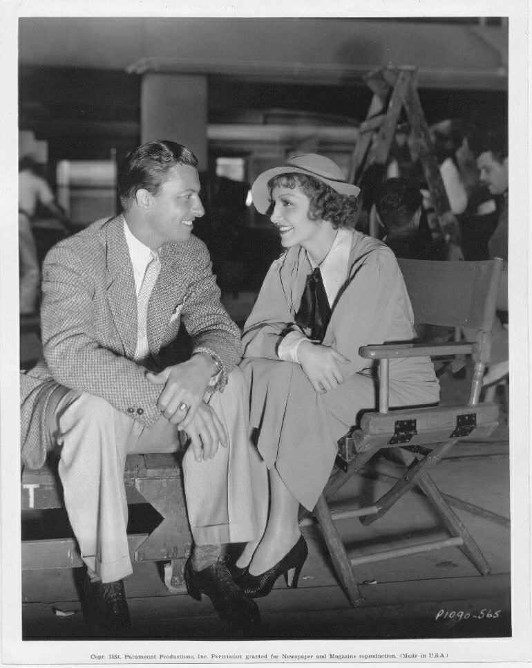 Wally with actress, Claudette Colbert.