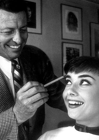 Wally with actress, Audrey Hepburn.