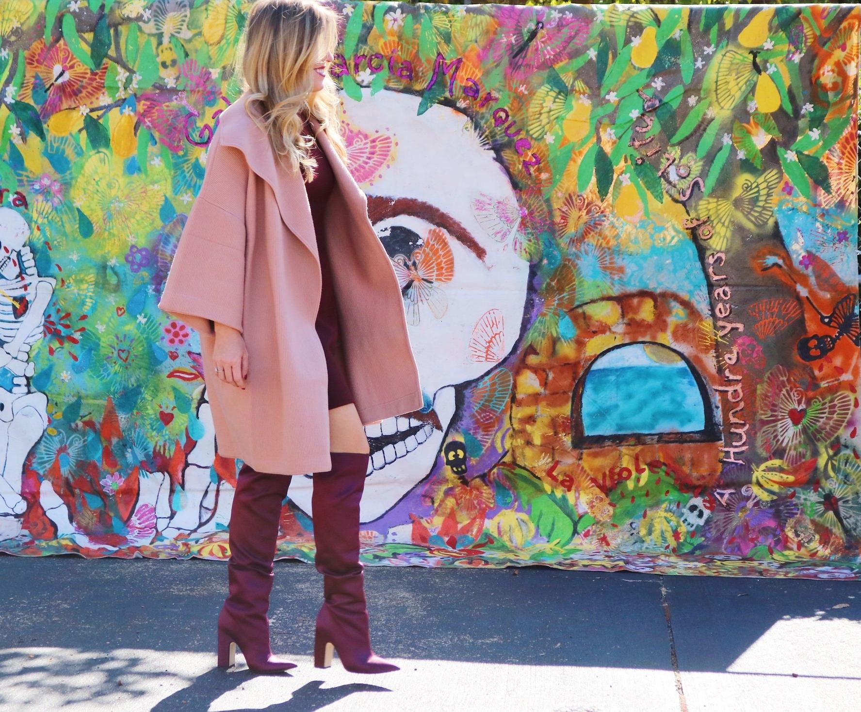 blush pink sweater coat