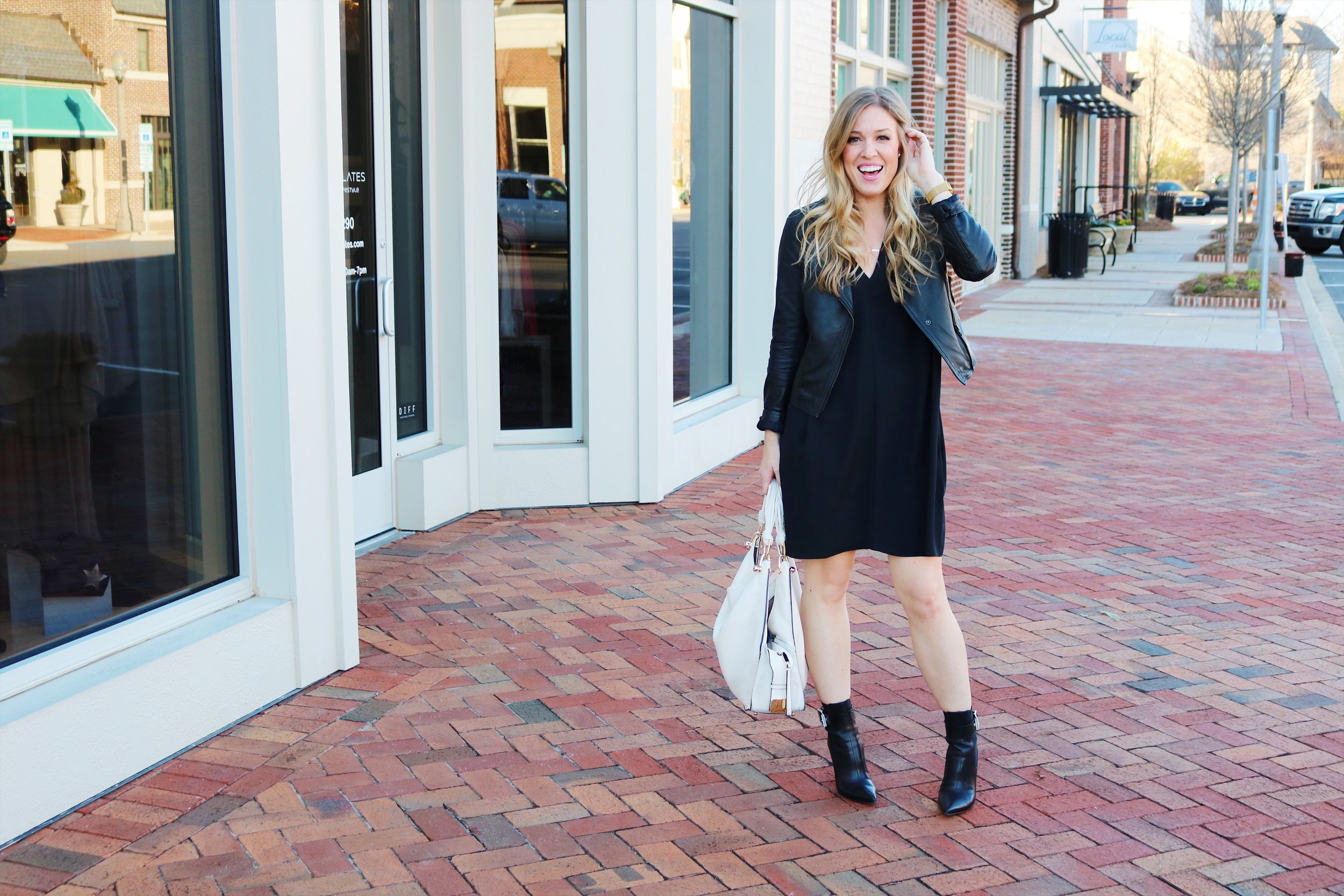 Hands-down my favorite and the hardest-working maternity/non-maternity dress... the Hatch Slouch Dress. Also, yes I like black. A lot.