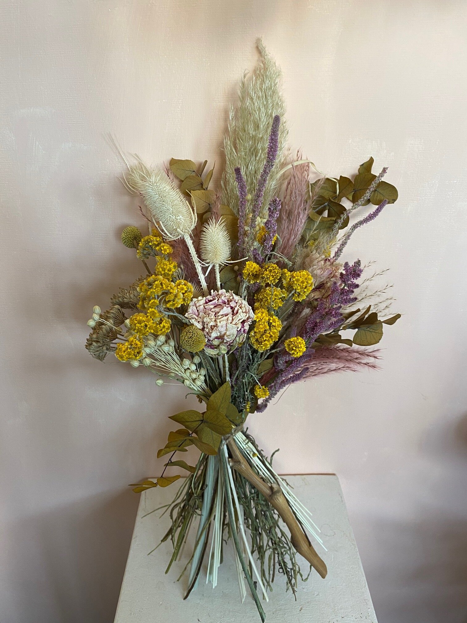 Dried Autumn Leaves Bouquet Love Blooms Wedding Flowers London Event Flowers London London Wedding Florist Event Florist Hackney Florist