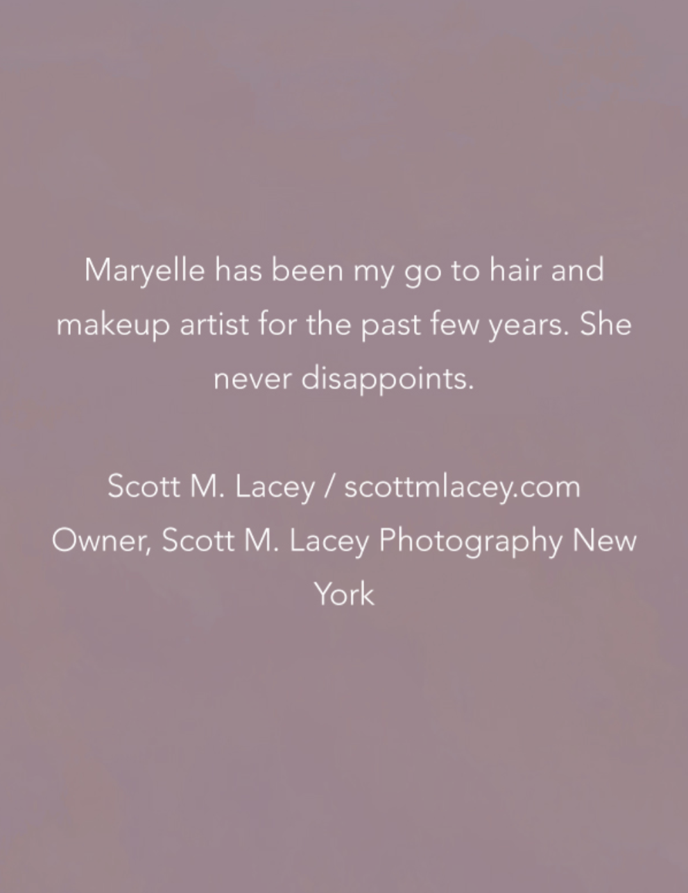 Testimonial from Scott M. Lacey Photography