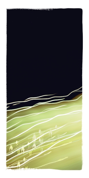 Riding Light Waves : original digital painting :  edition of 25 : pigment ink on archival paper