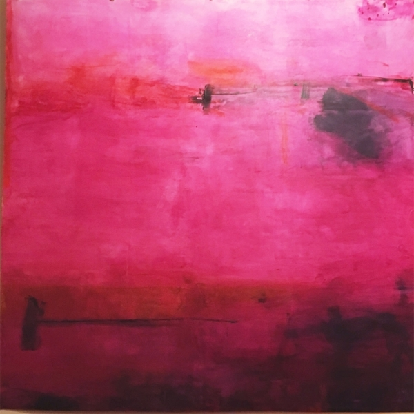 """Cerise  : beeswax + pigment on paper : 52""""h x 52""""w"""