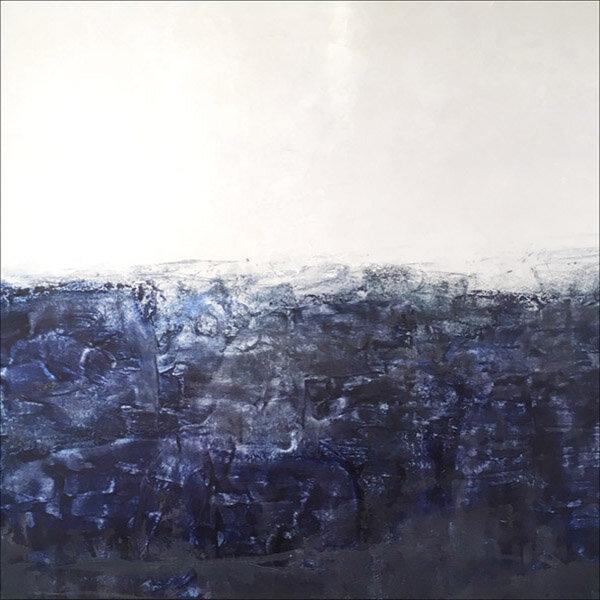 "Drake's Passage  : oil pigment stick, cold wax : 40""h x 40""w : $2500 : by Lynda Cole"